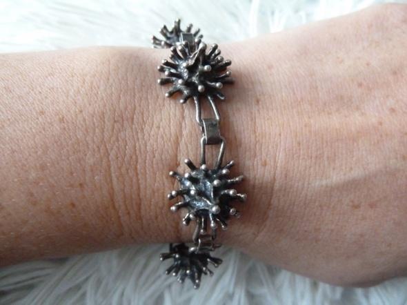 bransoleta srebrna jeżyk
