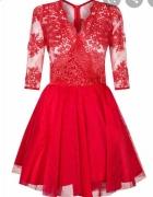 Mosquito Czerwona koronkowa sukienka r 36...