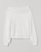 H&M Puszysty sweter Biały...