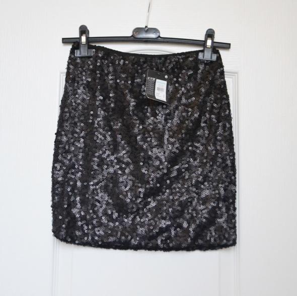 Spódnica spódniczka mini tuba obcisła cekiny cekinowa Sylwester...
