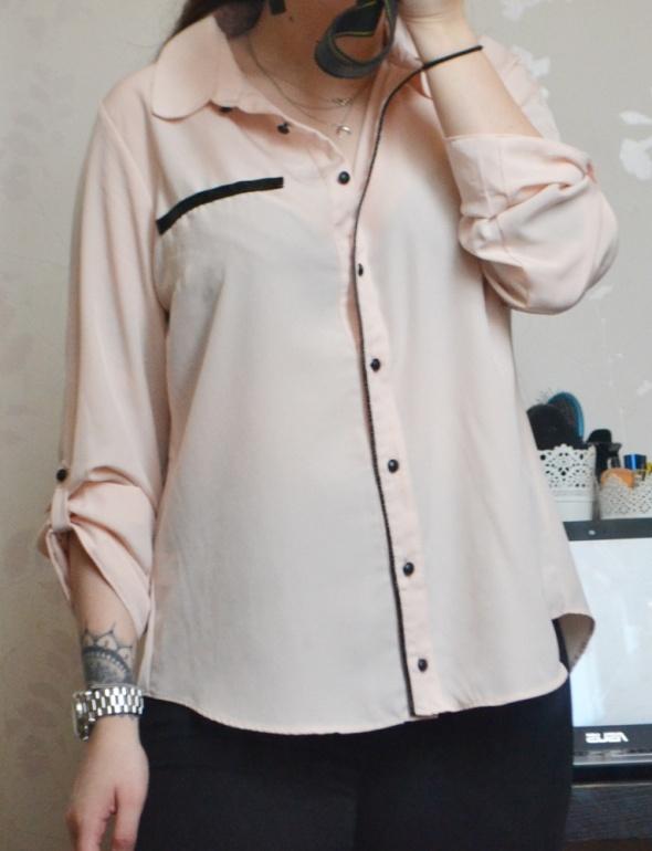 Koszula piżama piżamowa w piżamowym stylu minimalizm oversize lamówka eko skóra L 40