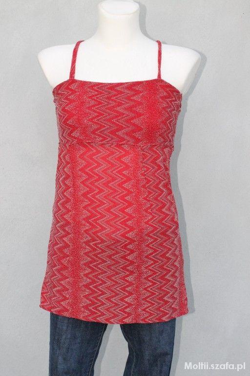 czerwona połyskująca tunika