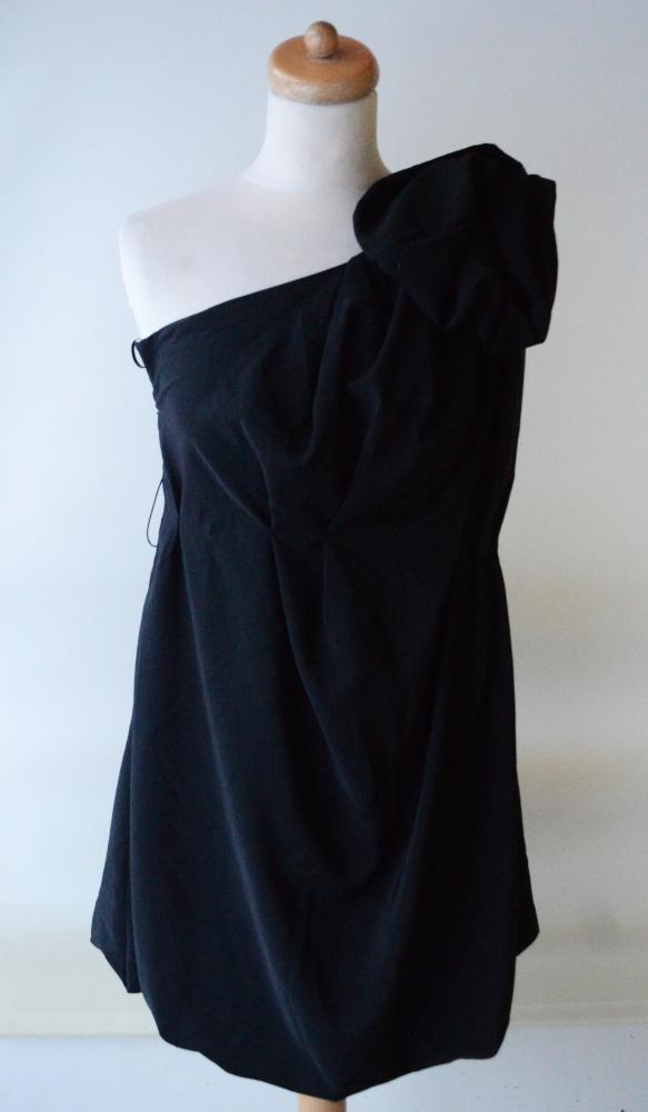 Sukienka Czarna Jedno Ramię S 36 Bik Bok Whitney Port w