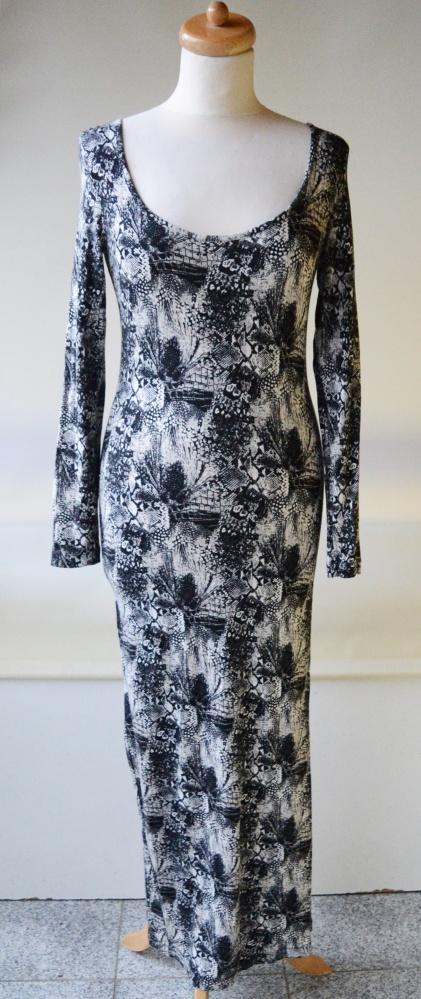 Sukienka H&M S 36 Skóra Węża Long Maxi Długa