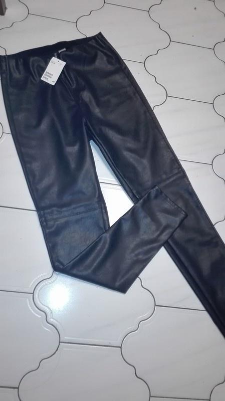Spodnie legginsy ze skory H&M