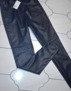 Spodnie legginsy ze skory H&M...