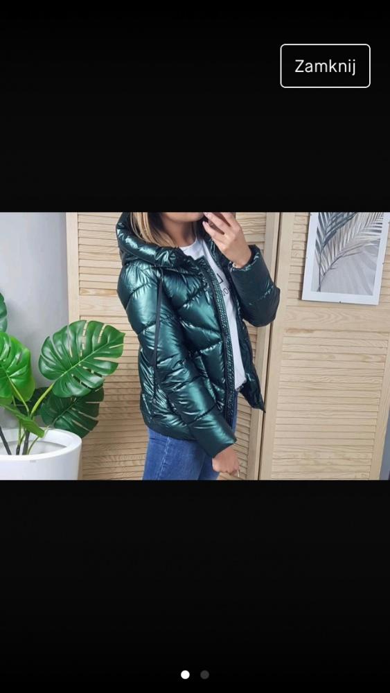 Śliczna kurtka metaliczna trend 2019