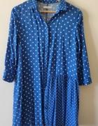 Tunika sukienka koszulowa w grochy...