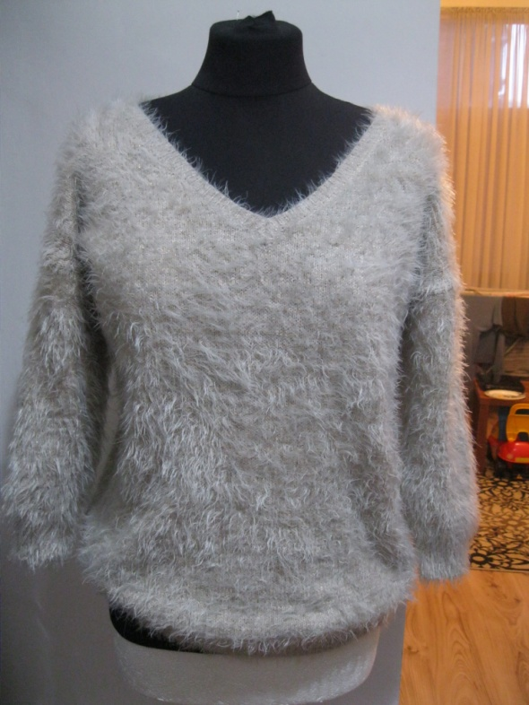 modny sweter OASIS S M pudrowy