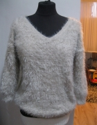 modny sweter OASIS S M pudrowy...