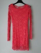 Nowa różowa koronkowa sukienka...