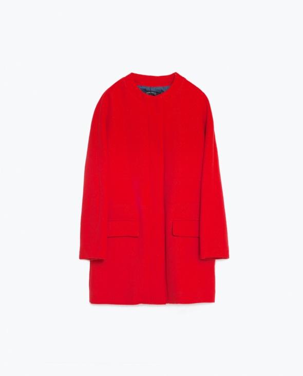 ZARA czerwony płaszcz XS