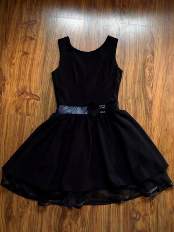 Sukienka PIN UP czarna eko skóra