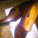 rude buciki ze skórki naturalnej