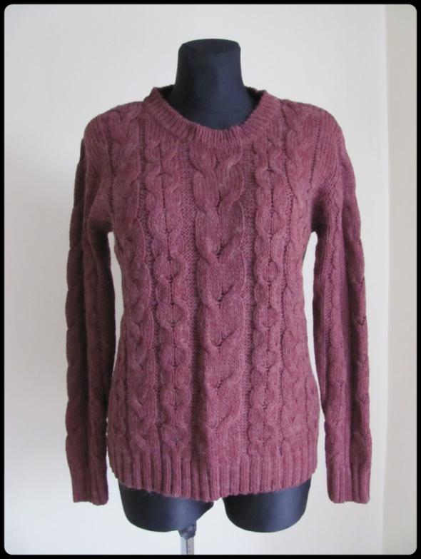 Swetry Atmosphere ciepły sweter z warkoczami rozmiar 40 L