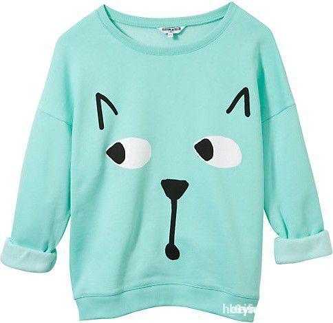 poszukiwana miętowa bluza z kotem...