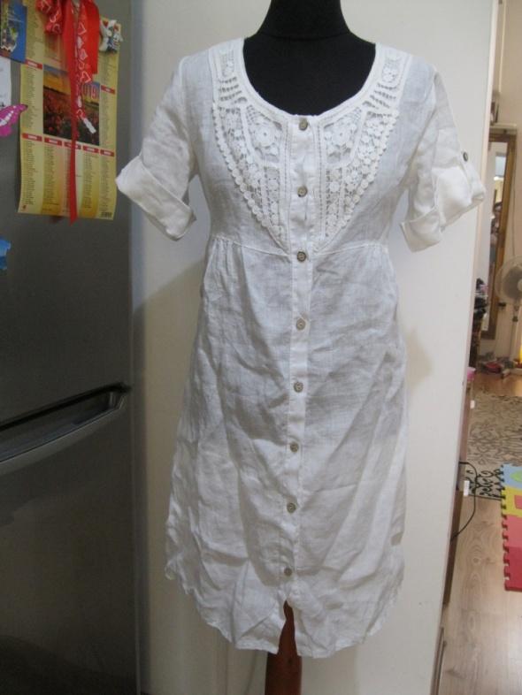 sukienka tunika NUUC S biała len