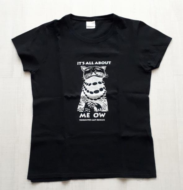 GILDAN Nowy świetny t shirt z kotkiem R M