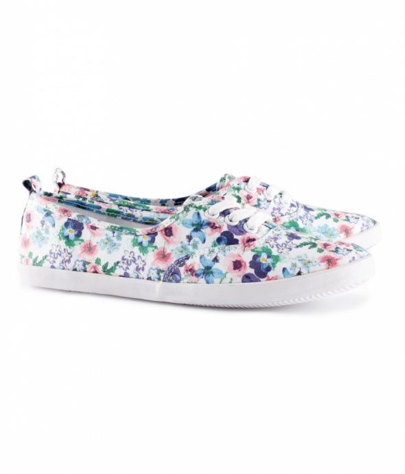 Trampki H&M tenisówki floral chic kwiaty 38