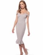 Sukienka Ax Paris Midi Fishtail Style Light Grey 36...