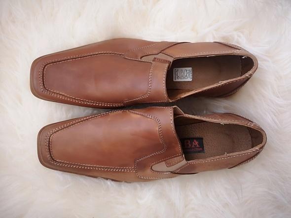 Buty męskie półbuty eleganckie skóra naturalna