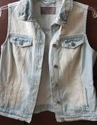 piekna jeansowa katana kamizelka...