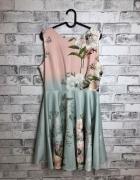 Closet London Mini Sukienka Kwiatowy Wzór 44 XXL...