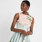 Closet London Mini Sukienka Kwiatowy Wzór 44 XXL