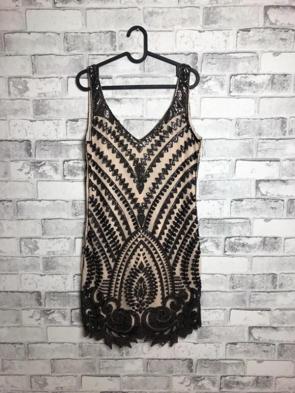 Molly Bracken Bogato Zdobiona Sukienka Mini 40 L