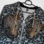 Just Cavalli panterkowa bluza z kapturem leopard print cekiny