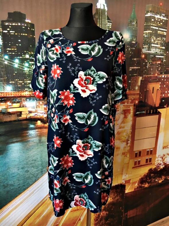 vero moda sukienka luźny fason kwiaty floral hit 38 M...