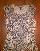 elegancka bluzka wzory rozmiar XS biało czarna...