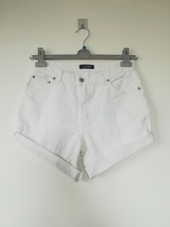 Spodenki Modne spodenki jeans wysoki stan M L