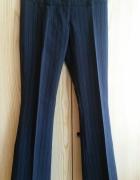 Eleganckie czarne spodnie w prążki Orsay 34 XS...