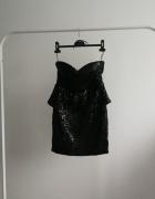 Czarna sukienka cekiny cekinowa Bebe...