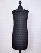 8 36 S Vila Czarna sukienka skórkowy kołnierzyk...