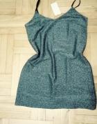 Srebrna sukienka M sylwester...