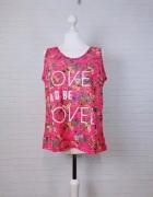 16 44 2XL XXL Dunnes Stores Plus Size Różowa bluzeczka w kwiaty...