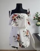 biały kombinezon w kwiaty Parisian...
