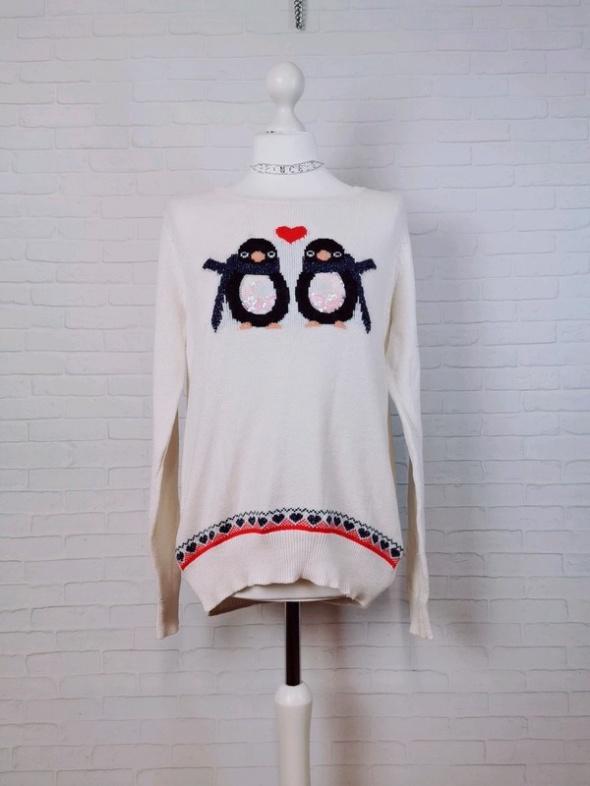 Swetry 14 42 XL TU Plus Size Kremowy świąteczny sweterek