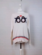 14 42 XL TU Plus Size Kremowy świąteczny sweterek...