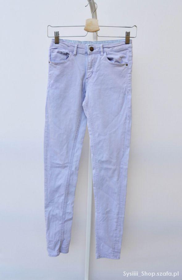 Spodnie Lindex Fioletowe Pastelowe 164 cm Rurki