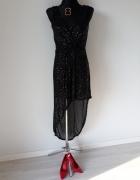 Czarna sukienka z cekinami maxi...