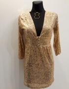 Złota sukienka z cekinami