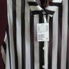 H&M koszula mgiełka w czarno białe pasy Z METKĄ