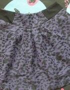 NEXT fioletowa spódnica PANTERKA 38 S M rockabilly...