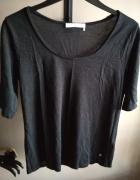 czarna brokatowa bluzka monari XL...
