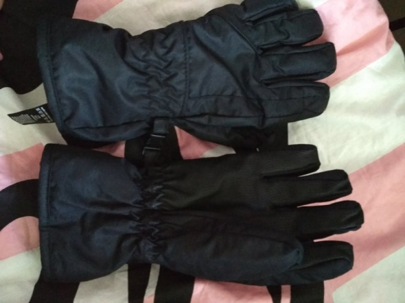 Narciarskie czarne rękawiczki FF M