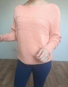 Morelowy sweter sweterek dzianinowy oversize...