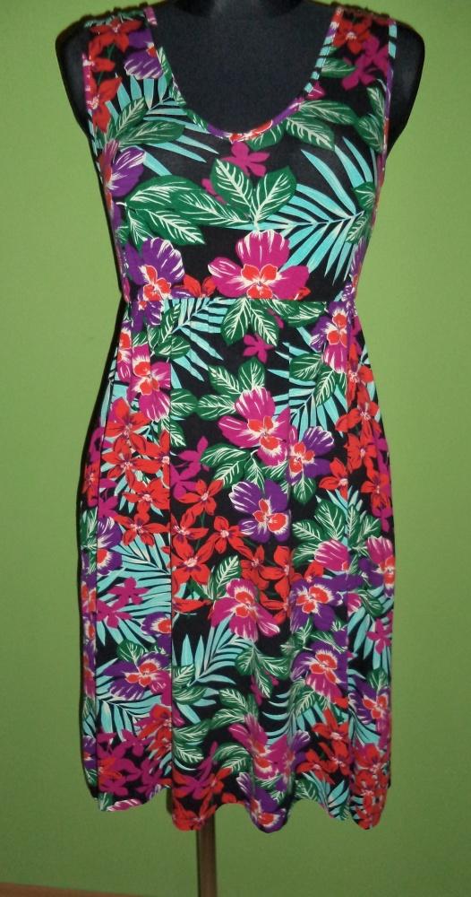 Suknie i sukienki Sukienka tropikalny wzór